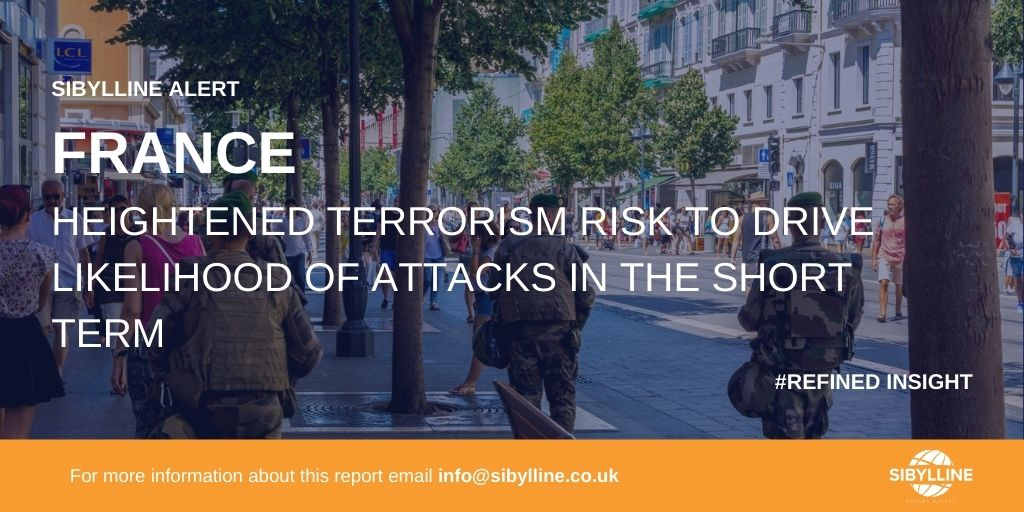 France - Heightened terrorism risk to drive likelihood of attacks in the short term